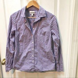 J. Crew Gingham perfect shirt Button Down